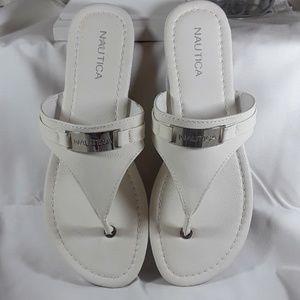 Nautica white sandals